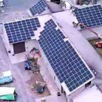 Aerial of solar arry